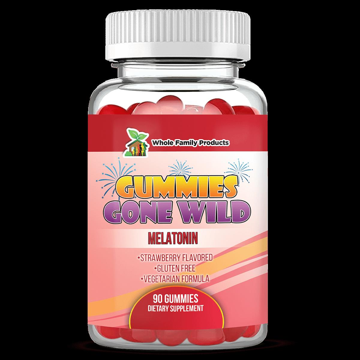 Gummies Gone Wild Melatonin Supplement Gummies